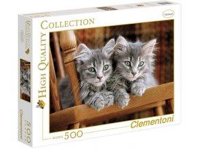 Koťata na lavičce - HQC