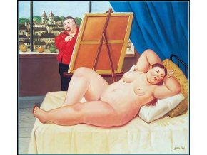 Fernando Botero: Portrét modelky - Autoritratto con modella, 1994