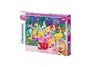 Walt Disney: Princezny - 3D efekt + brýle