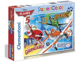 Walt Disney: Letadla - supercolor - 2 x 20 dílků