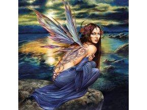 Motýlí víla - čtvercové puzzle - 1111 dílků