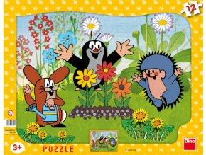 Krtek zahradník - deskové - 8 dílků + 4 tvarové
