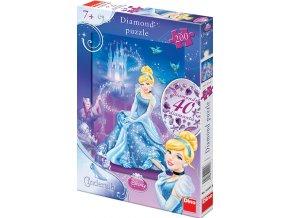 Walt Disney: Popelka - diamond: včetně 40 samolepících kamínků