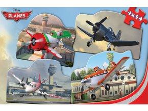 Walt Disney: Letadla - 4 x 54 dílků