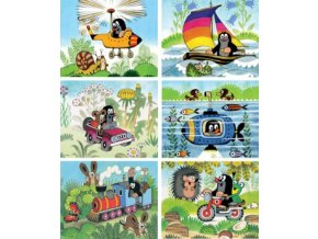 Kubus - Krtek a dopravní prostředky - 20 skládacích obrázkových kostek