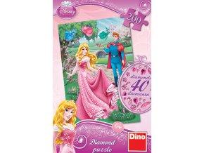 Walt Disney: Šípková Růženka - diamond - včetně 40 samolepících kamínků