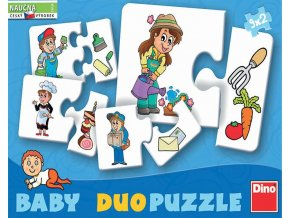 Baby puzzle - Co kdo dělá (Profese) - 9 x 2 dílky