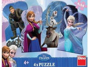 Walt Disney - Frozen: Ledové království - 4 x 54 dílků