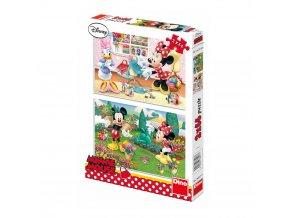Walt Disney: Pracovitá Minnie - 2 x 66 dílků