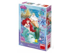 Walt Disney - Ariel - diamond včetně 40 samolepících kamínků