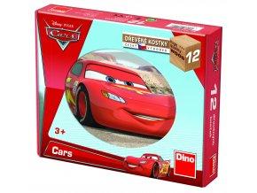 Cars ve světě - kubus 12 skládacích obrázkových kostek