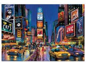 New York: Time Square - neon - svítí ve tmě