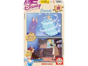 Walt Disney: Popelka - dřevěné - 2 x 16 dílků
