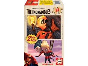 Walt Disney: Úžasňákovi (The Incredibles) - dřevěné 2 x 25 dílků