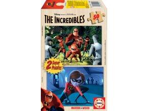 Walt Disney: Úžasňákovi - dřevěné - 2 x 50 dílků