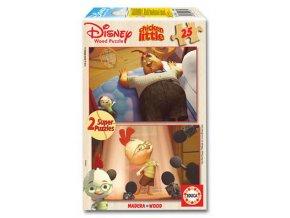 Walt Disney: Malá kuřátka - dřevěné - 2 x 25 dílků