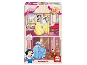 Walt Disney: Sněhurka a Popelka - dřevěné - 2 x 25 dílků
