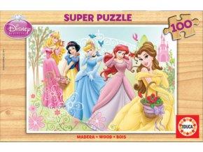 Walt Disney: Princezny - dřevěné 100 dílků