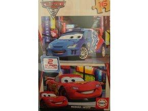 Walt Disney: Cars 2 - dřevěné - 2 x 16 dílků