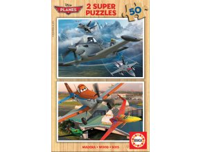 Walt Disney: Letadla - dřevěné - 2 x 50 dílků