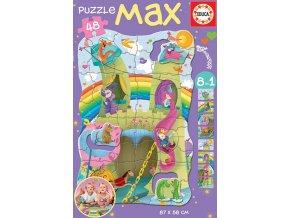 Princezny a rytíři - podlahové puzzle MAX