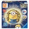 Mimoňové - puzzleball 72 dílků - 3D svítící LED