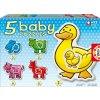 Baby puzzle pro nejmenší - Pět zvířátek z farmy - 2, 3, 4 dílky