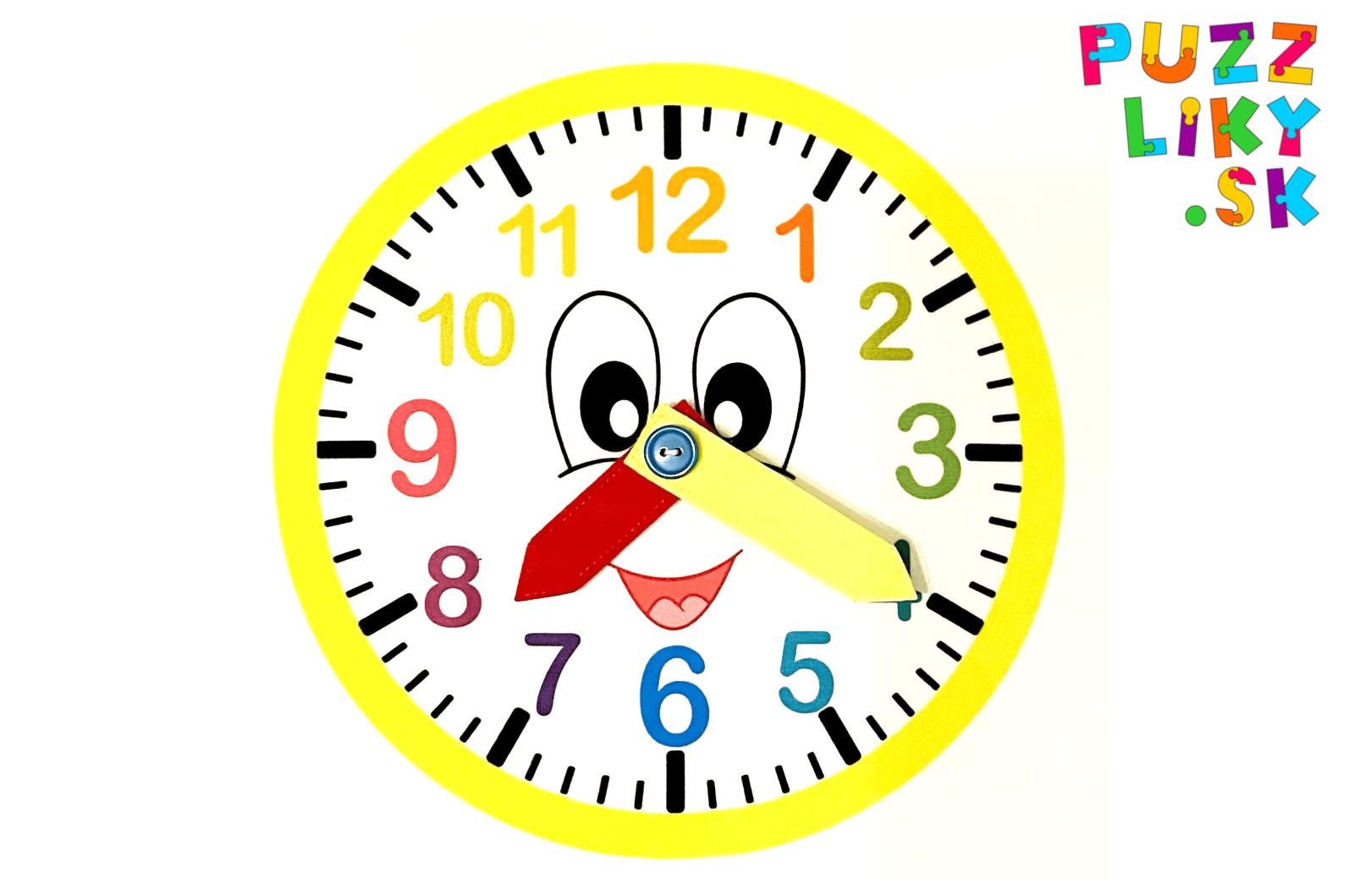 Šijeme hodiny s pohyblivými ručičkami