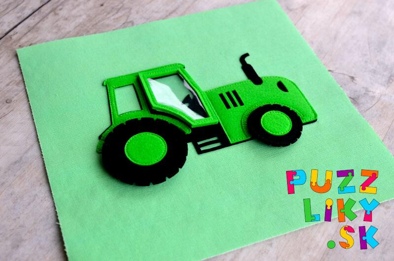 """Šijeme """"Veľký Traktor"""" z plsteného/filcového výrezu"""