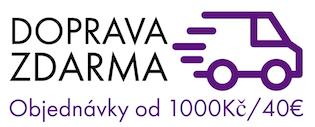 Doprava zdarma nad 1000Kč/40€
