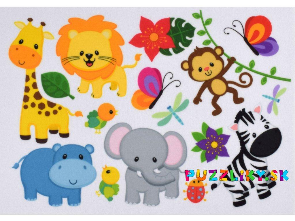 Zvieratká Safari - plstený panel