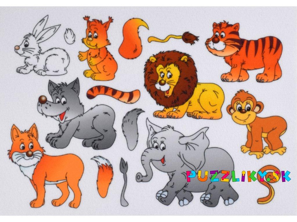 Zvieratká Chvosty/Ocasy - plstený panel