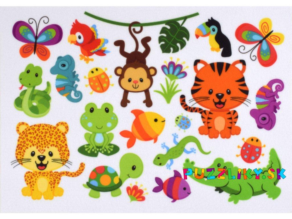 Zvieratká Prales - plstený panel