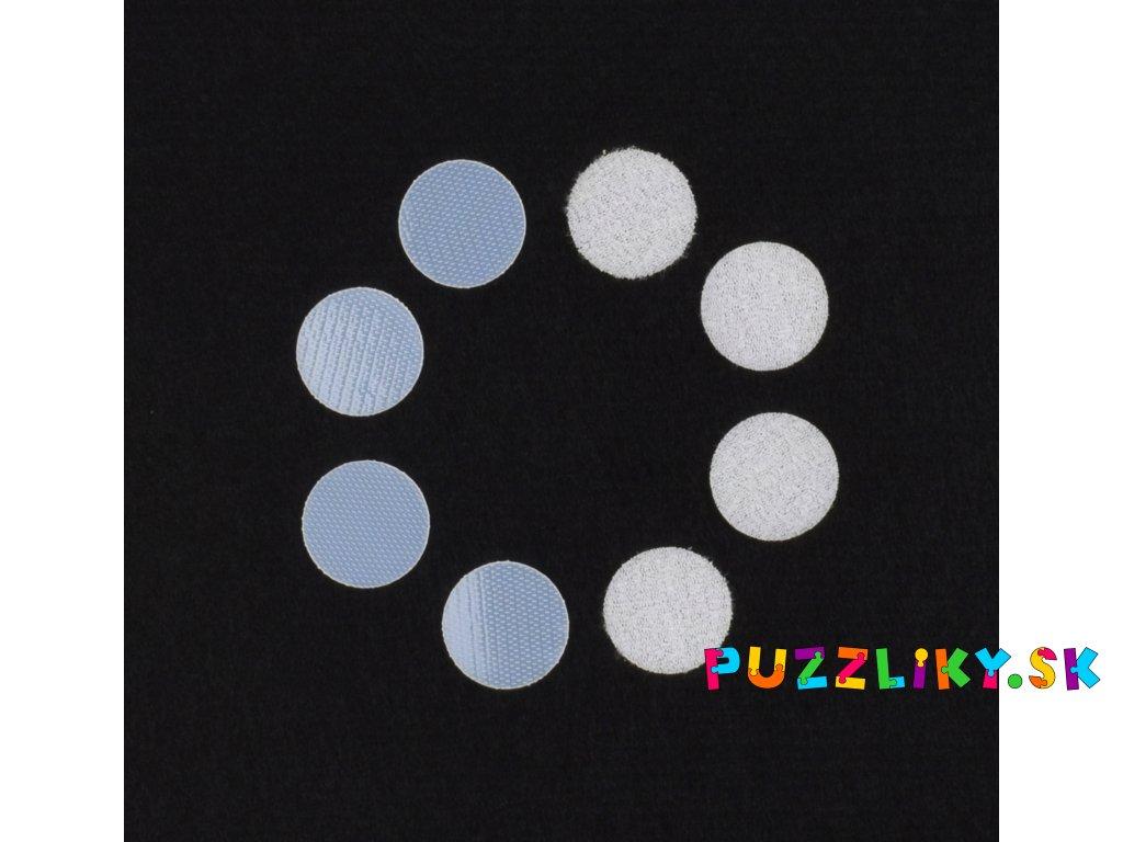 Detský suchý zips - sada 10x krúžok 2 cm