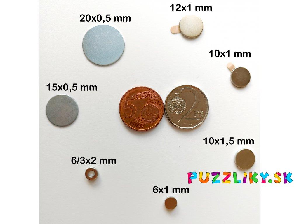 Neodymové magnety a kovové pliešky