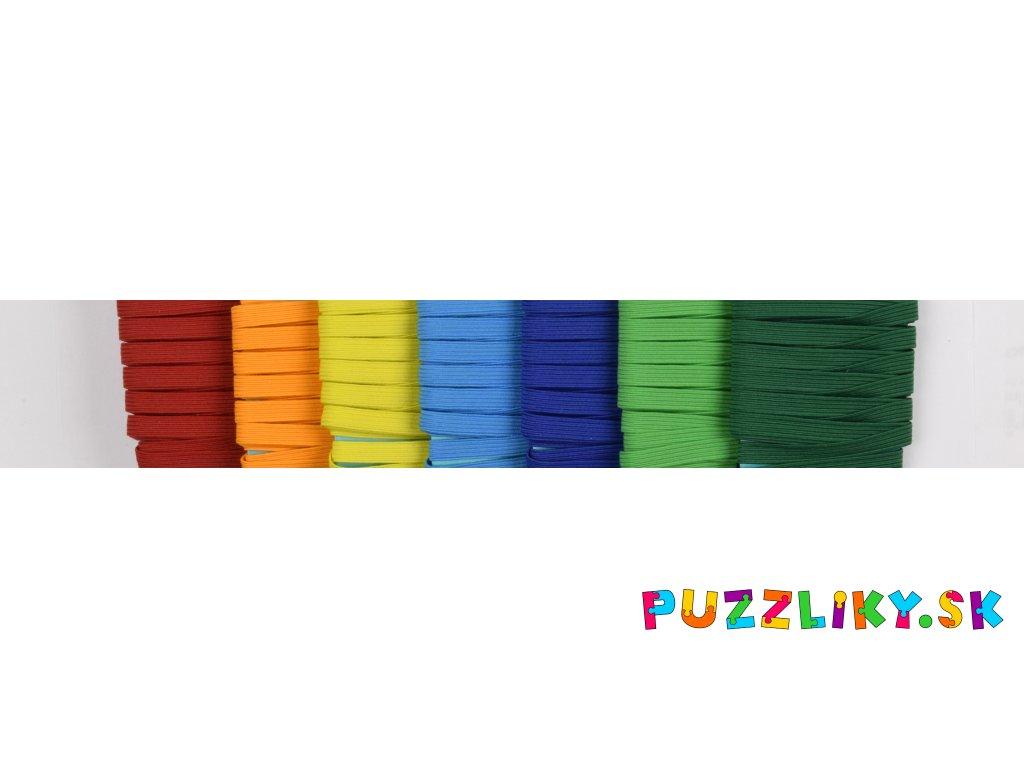 Farebná pruženka (guma) 6,6 mm