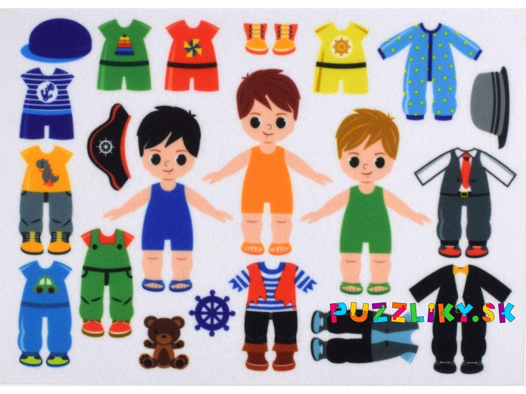 Obliekanie chlapci 10 cm - plstený panel
