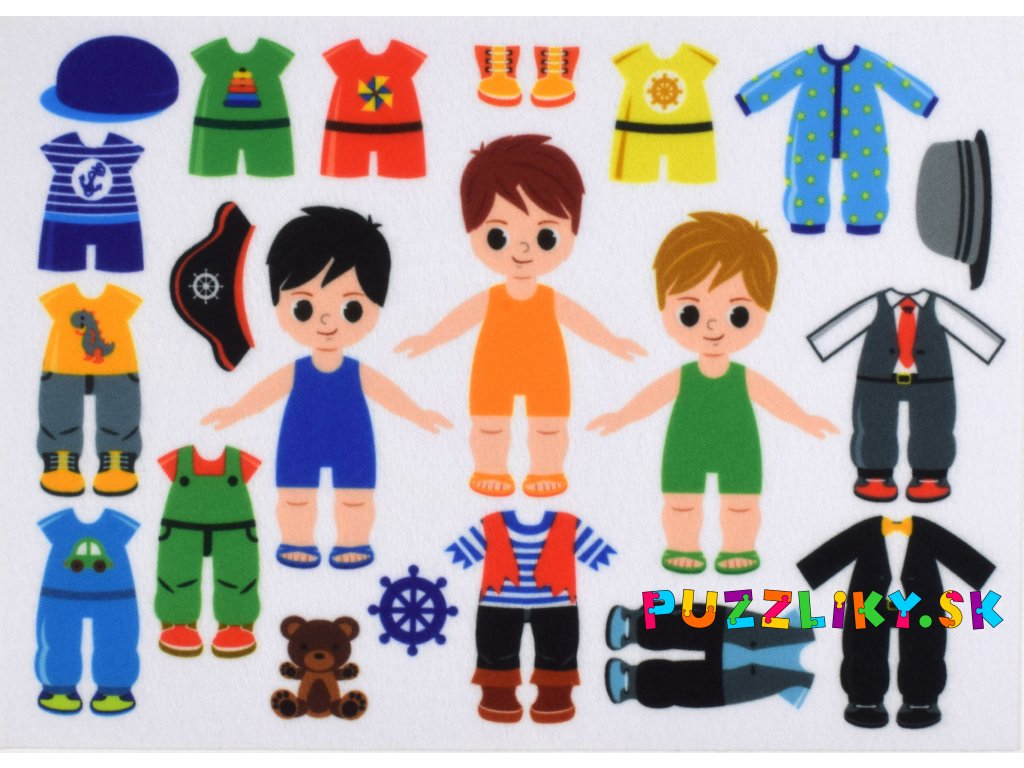 Obliekanie chlapci/kluci 10 cm - plstený panel