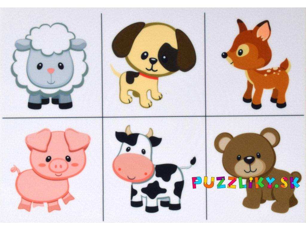 Zvieratká Mix ako skladačka - plstený panel