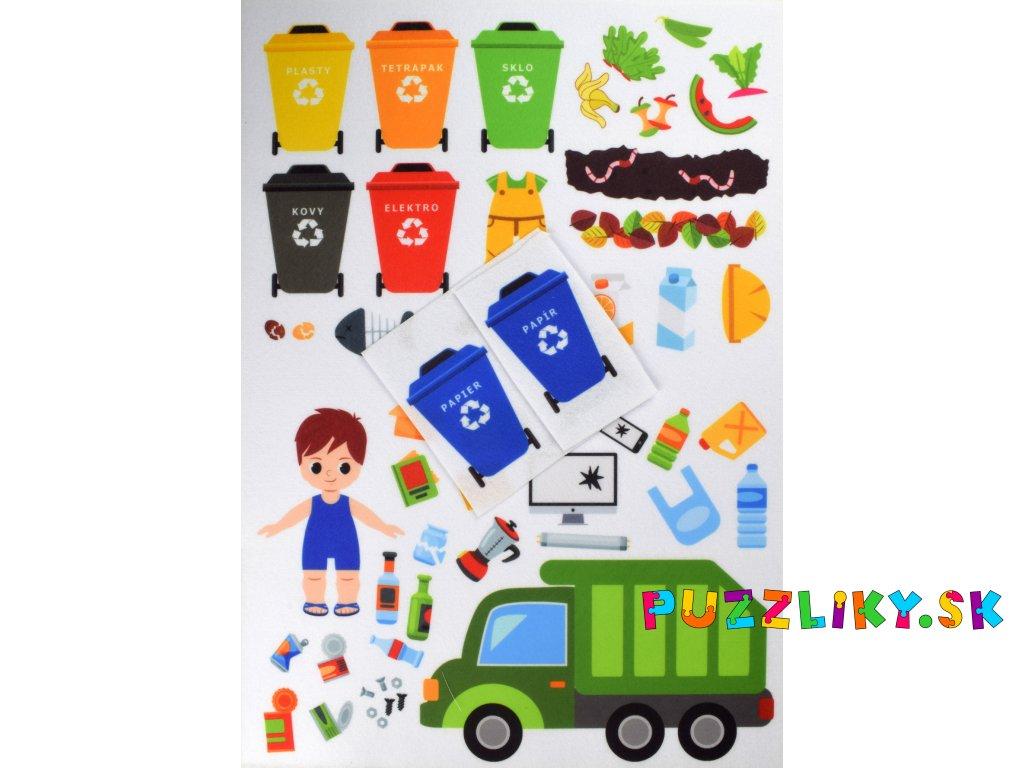 Triedenie/recyklácia odpadu - plstený panel