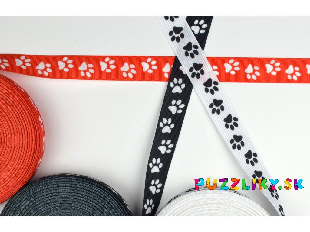 Rypsová stuha Tlapky/Labky 2,5 cm