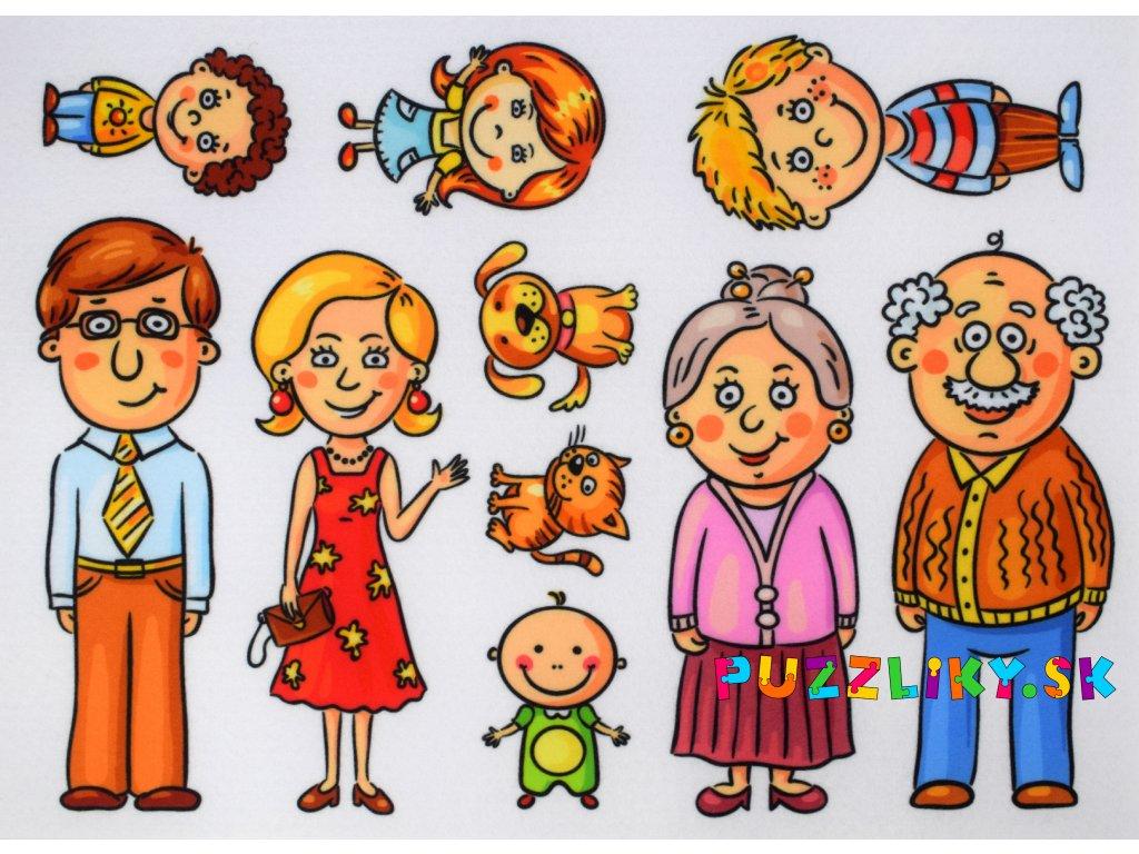 Rodina - plstený panel