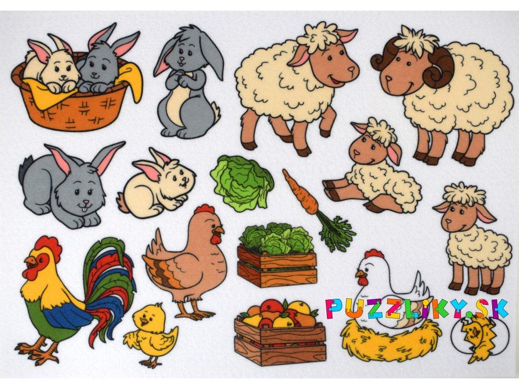 Zvieracie rodinky - plstený panel