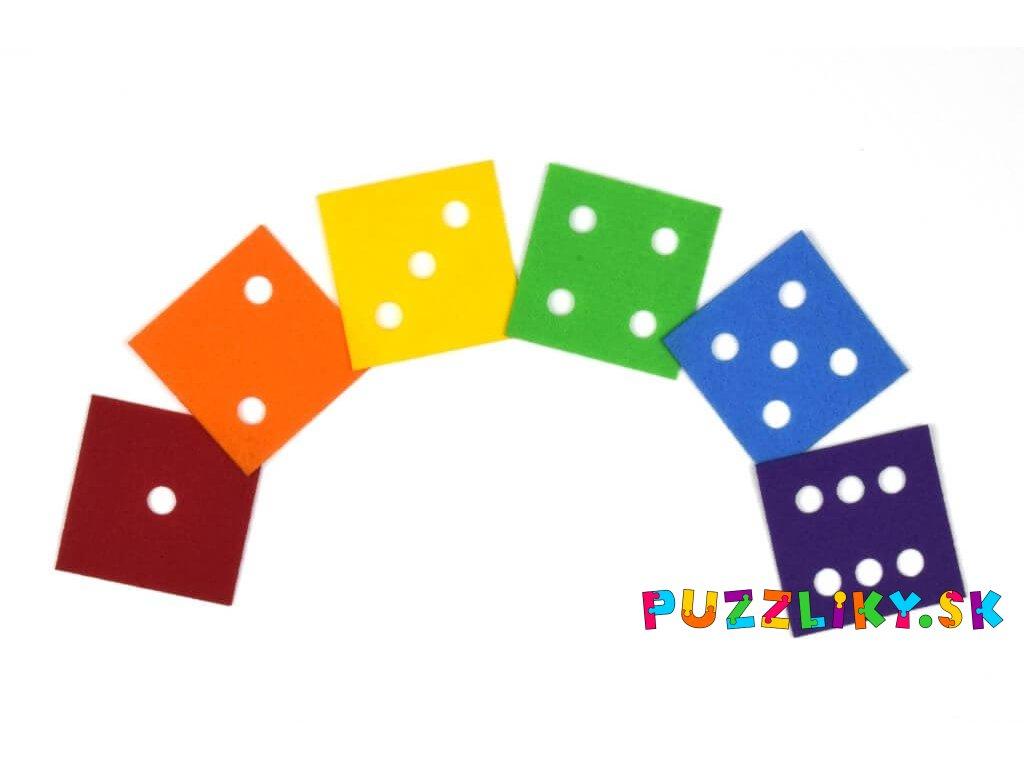 Čísla z kocky/kostky - výrezy