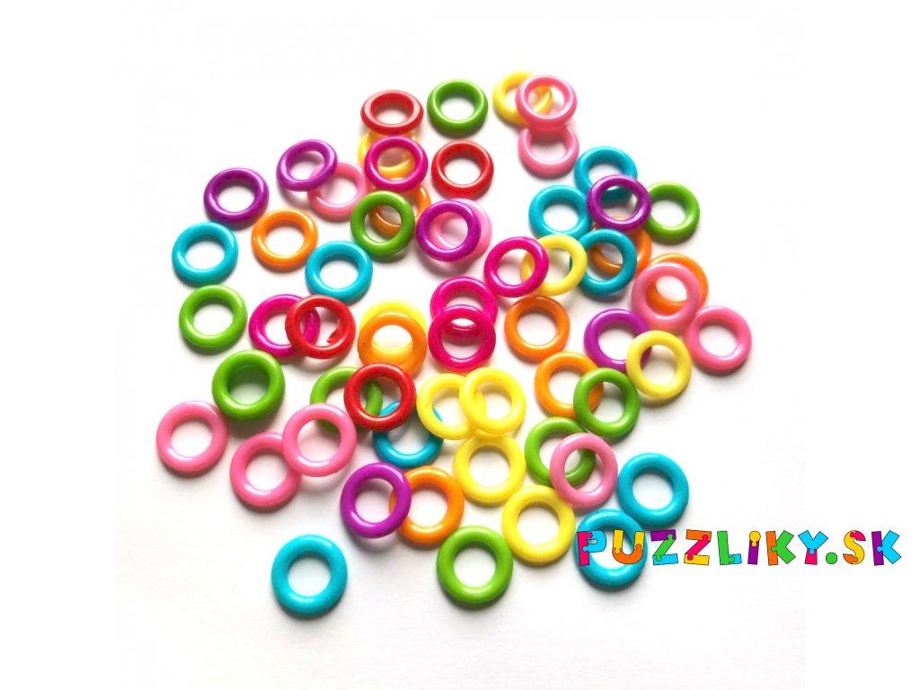 Plastové prevliekacie krúžky/kroužky 8ks