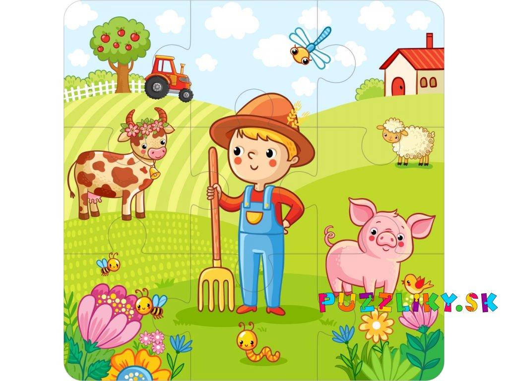 farma chlapec 3x3 puzzle