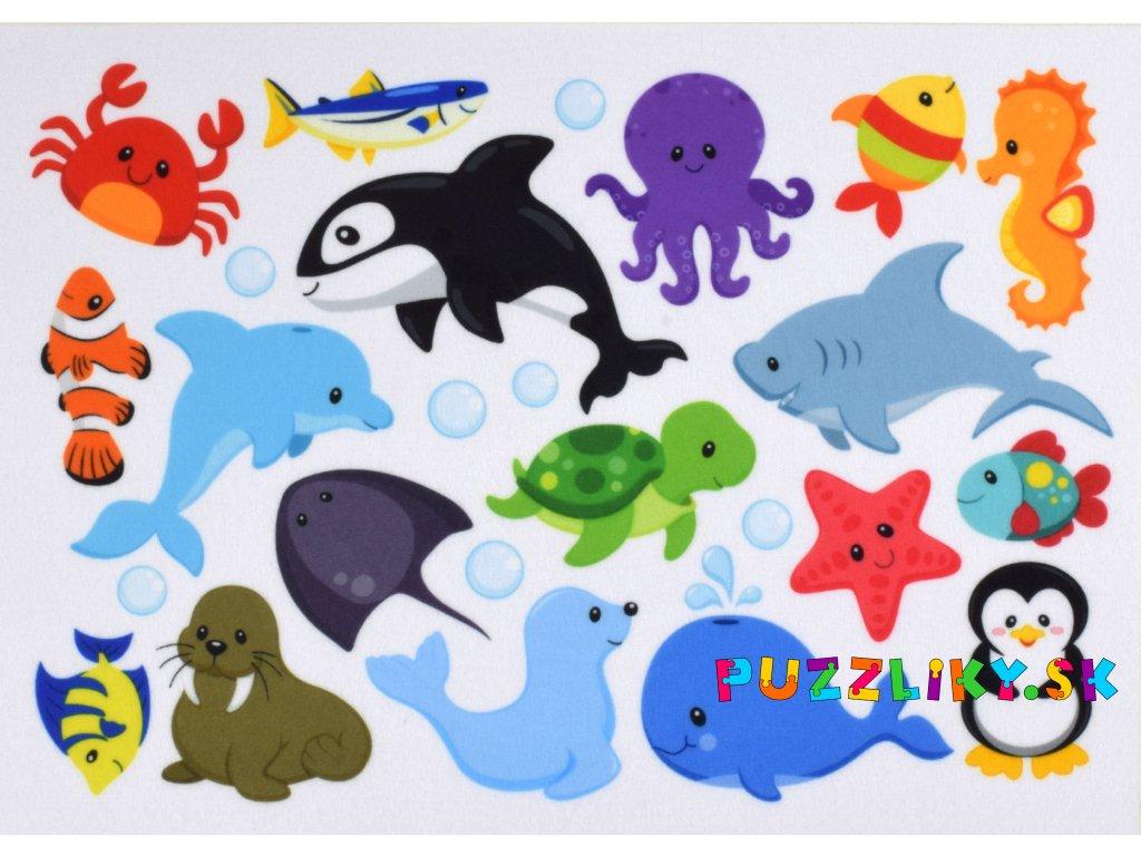 Zvieratká Voda - plstený panel