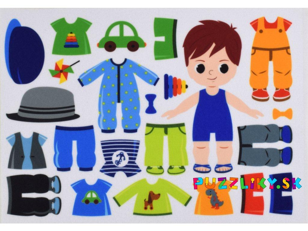 Obliekanie chlapčeka 15 cm - plstený panel