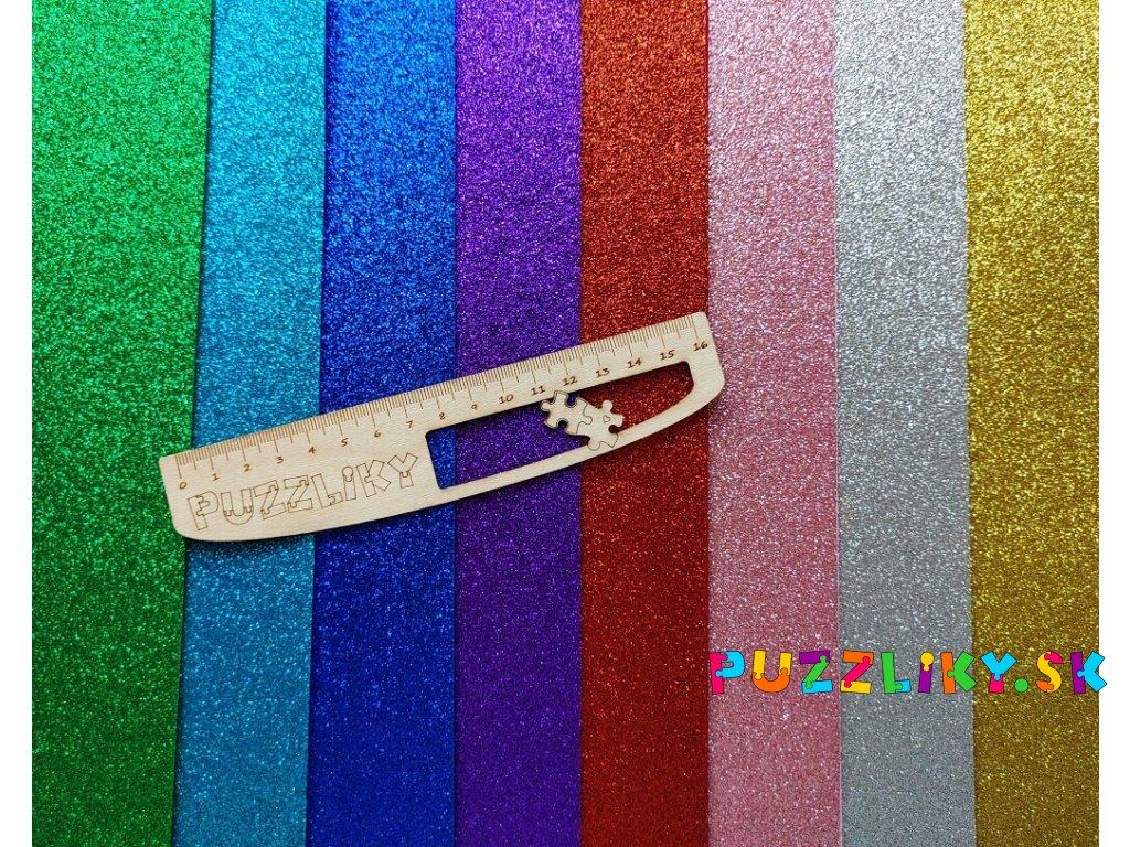Glitter plsť / filc s atestom (A5 + sada)