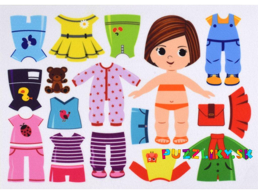 Obliekanie dievčatka 15 cm vo variantách - plstený panel